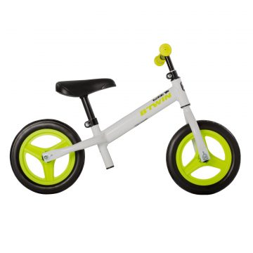 Btwin Loopfiets 2 tot 4 jaar 10 inch Run Ride 100 wit