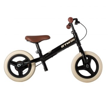 Btwin Loopfiets 2 tot 4 jaar 10 inch Run Ride 520 Cruiser zwart