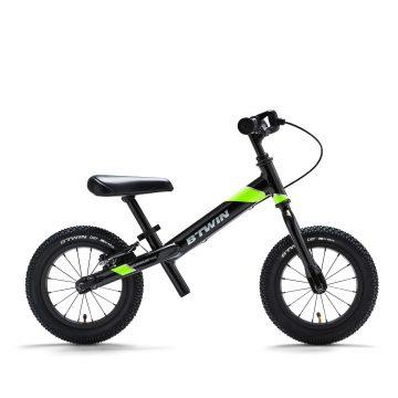 Btwin Loopfiets 3 tot 4 jaar 12 inch Run Ride 900 zwart/geel