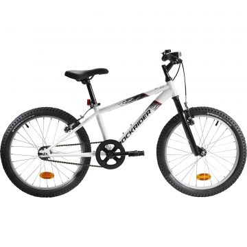 Btwin Mountainbike kind 20 inch Rockrider ST 100 6-9 jaar wit