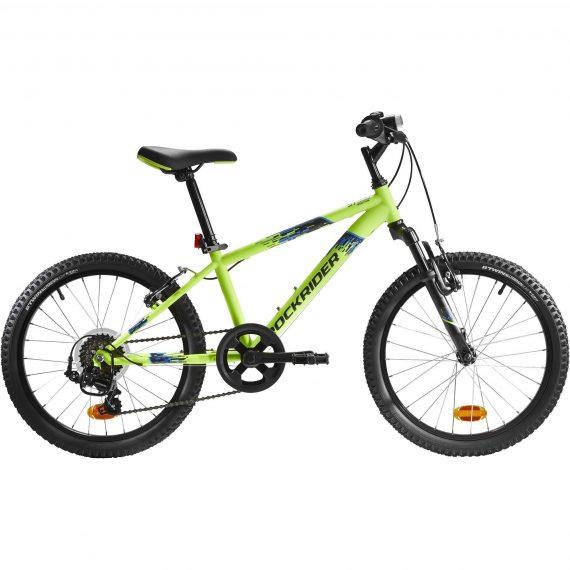 Btwin Mountainbike kind 20 inch Rockrider ST 500 6-9 jaar fluogeel