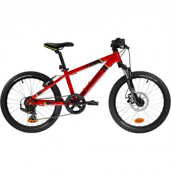 Btwin Mountainbike kind 20 inch Rockrider ST 900 6-9 jaar rood