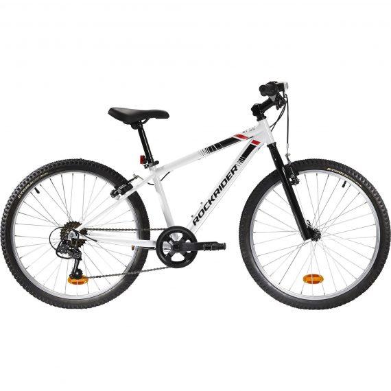 Btwin Mountainbike kind 24 inch Rockrider ST 100 9-12 jaar wit