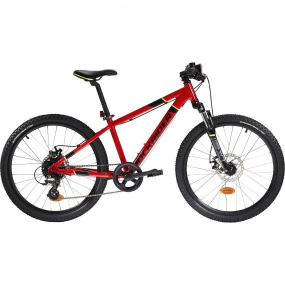 Btwin Mountainbike kind 24 inch Rockrider ST 900 9-12 jaar rood