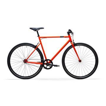 Elops Single speed fiets 500 oranje