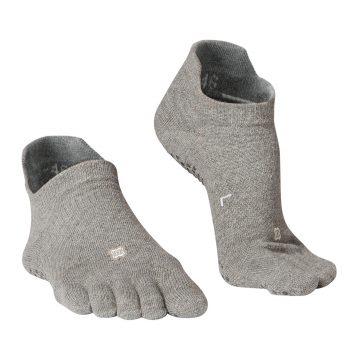 Domyos Antislip teensokken voor zachte yoga gemêleerd grijs