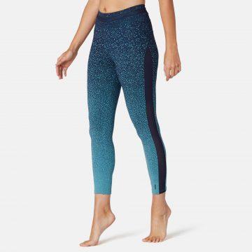 Domyos Legging voor pilates en lichte gym dames 520 slim fit 7/8