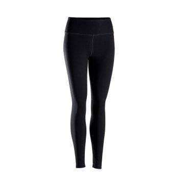 Domyos Technische legging voor zachte yoga dames zwart