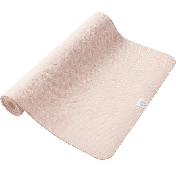 Domyos Yogamat natuurrubber / jute 4 mm beige