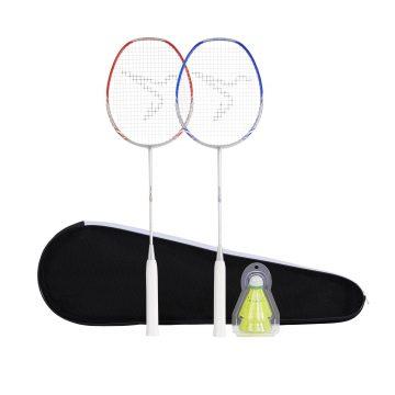 Perfly Badmintonracket BR190 Set Partner voor volwassen - donkeroranje