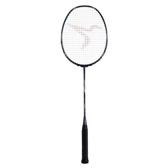 Perfly Badmintonracket voor volwassenen BR 930 V-frame blauw/goud