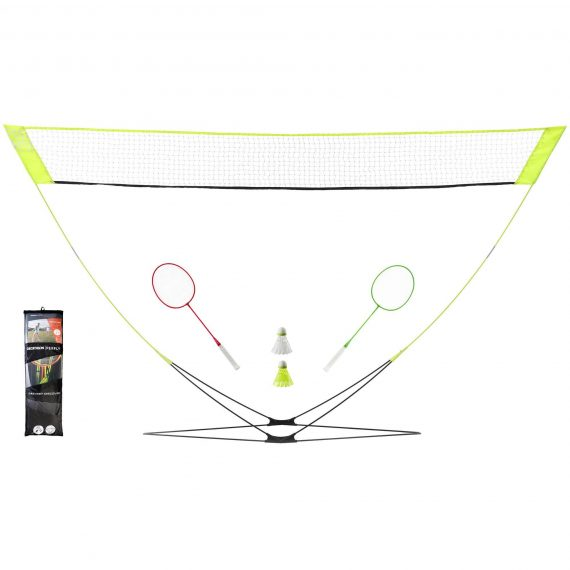 Perfly Badmintonset Easy Set Discover geel