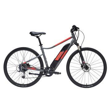 Riverside Elektrische hybride fiets 500 E grijs/rood