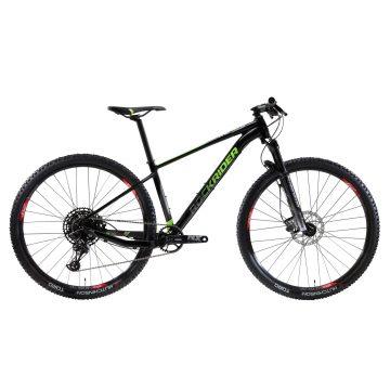"Rockrider Cross country mountainbike XC 100 29"" 12S zwart/fluo"