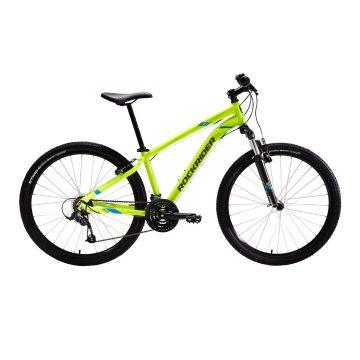 "Rockrider Mountainbike ST 100 27.5"" 3x7 speed microshift/shimano geel"