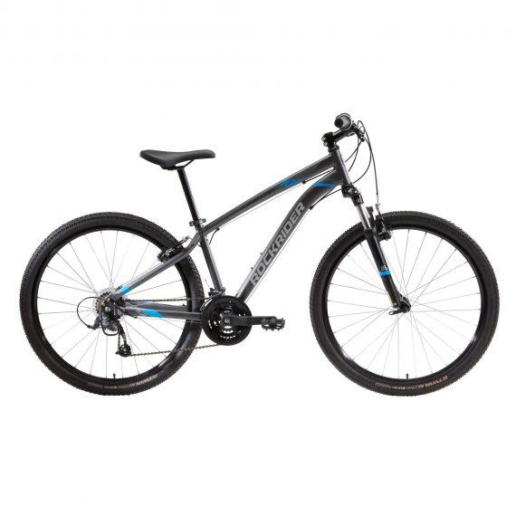 "Rockrider Mountainbike ST 100 27.5"" 3x7 speed microshift/shimano grijs"