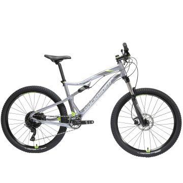"Rockrider Mountainbike ST 900 S 27.5"" 1x11 speed sram/microshift grijs/geel"