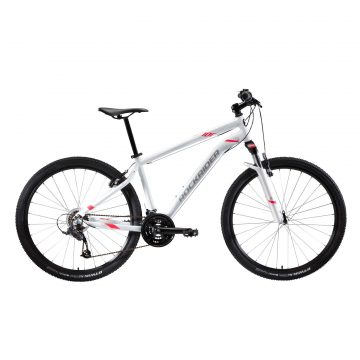 "Rockrider Mountainbike dames ST 100 27.5"" 3x7 speed microshift/shimano wit/roze"