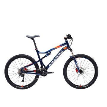 "Rockrider Mountainbike full suspension ST 540 S 27.5"" 2x9 speed microshift/shimano blauw"