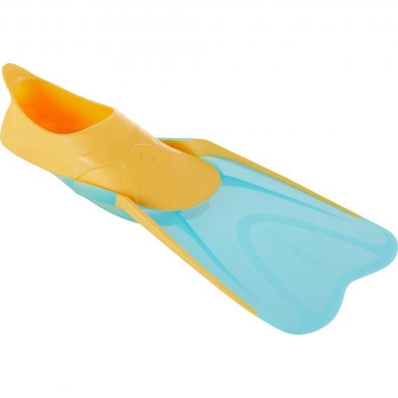 Subea Snorkelvinnen SNK 500 voor kinderen oranje turquoise