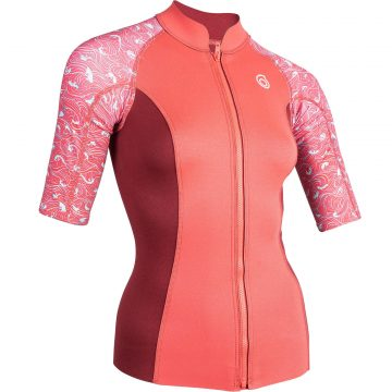 Subea Thermische top in neopreen 500 korte mouwen dames roze