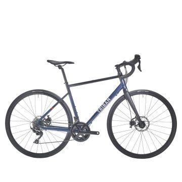 Triban Racefiets / Wielrenfiets dames Triban RC520 Shimano 105 met schijfremmen blauw