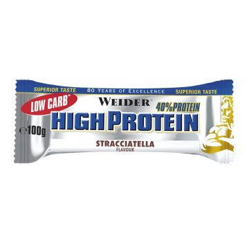 Weider Eiwitreep High Protein Low Carb stracciatella 100 g