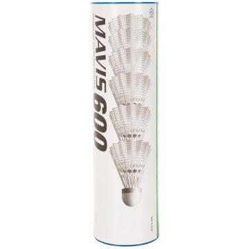 Yonex Badmintonshuttles in plastic Mavis 600 x 6 stuks wit