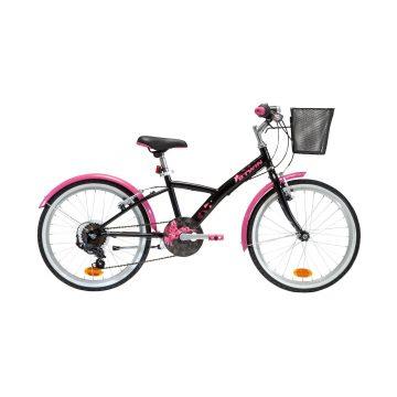 Btwin Hybride kinderfiets 20 inch 6 tot 9 jaar Original 500 zwart/roze