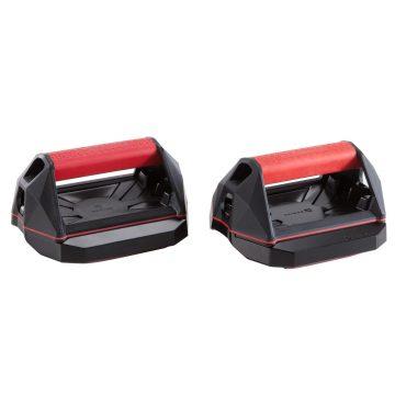 Domyos Veelzijdige grepen voor crosstraining Push Up Wheels rood en zwart