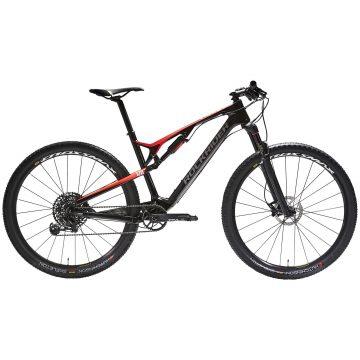"Rockrider Cross country mountainbike XC 900 S 29"" Full carbon frame rood/zwart"