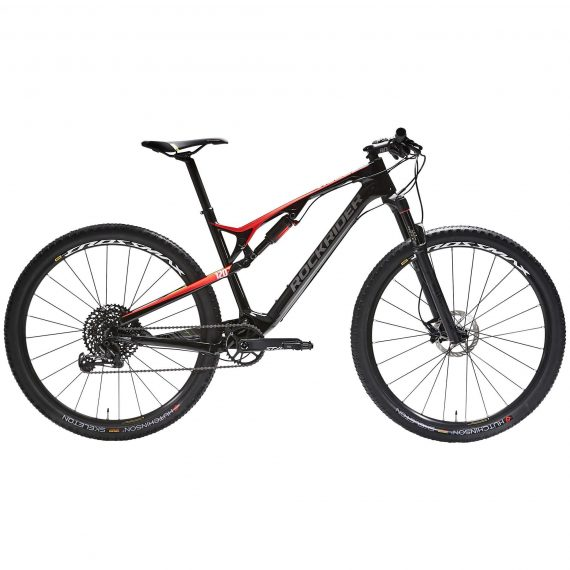 "Rockrider Cross country mountainbike XC 900 S 29"" Full carbon frame rood/zwart"