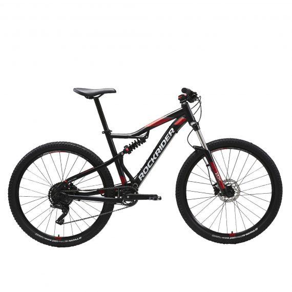 "Rockrider Mountainbike ST 530 S 27.5"" 1x9 speed rockrider/microshift zwart/rood"