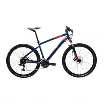 "Rockrider Mountainbike dames ST520 27.5"" 3x8 speed microshift/sram donkerblauw"