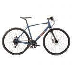 Triban Racefiets voor recreatief fietsen RC120 marineblauw/oranje flat bar schijfrem
