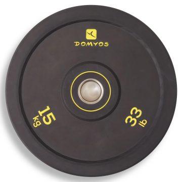 Domyos Bumperschijf gewichtheffen 15 kg