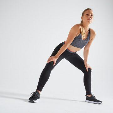 Domyos Legging voor cardiofitness dames 100 zwart