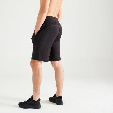 Domyos Naadloze short voor cardiofitness heren 900 zwart