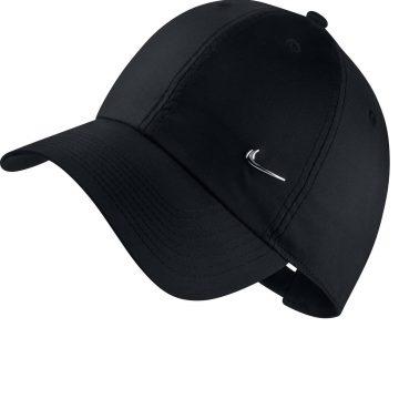 Nike Fitnesspet metal swoosh zwart