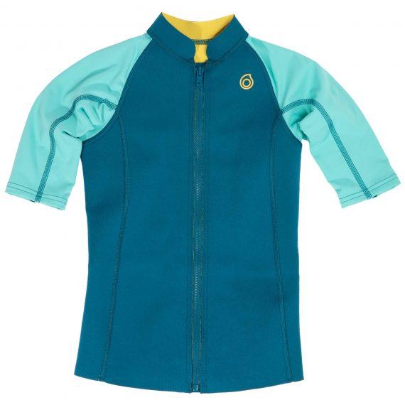 Subea Thermische top in neopreen 500 korte mouwen kinderen turquoise