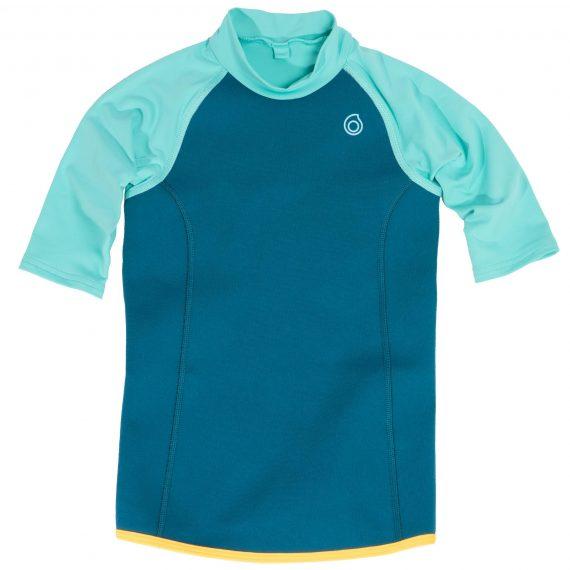 Subea Thermische top in neopreen met korte mouwen 100voor kinderen turquoise