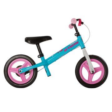 Btwin Loopfiets 2 tot 4 jaar 10 inch Run Ride 500 blauw/roze