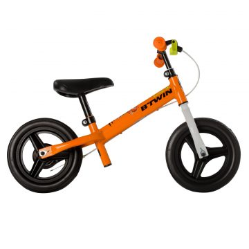 Btwin Loopfiets 2 tot 4 jaar 10 inch Run Ride 500 oranje