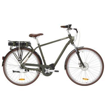 Elops Elektrische fiets / E-bike heren Elops 920 E stadsfiets donkergroen