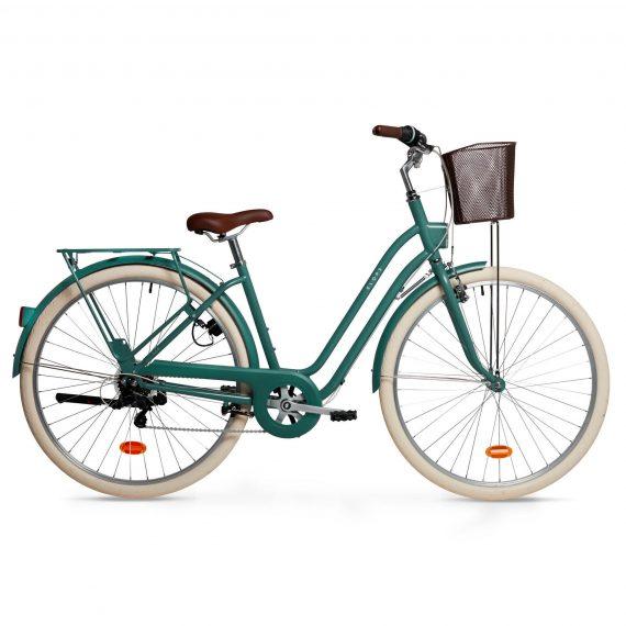 Elops Stadsfiets dames Elops 520 Laag frame groen